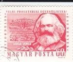 Stamps Hungary -  1864-1964 Manifiesto comunista de Karl Marx