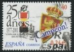Sellos de Europa - España -  ESPAÑA 2001_3805.03 25 AÑOS DE LA COPA DEL REY.ESCUDO DEL ZARAGOZA