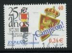Sellos de Europa - España -  ESPAÑA 2001_3805.04 25 AÑOS DE LA COPA DEL REY.ESCUDO DEL ZARAGOZA