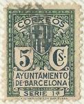 sellos de Europa - España -  AYUNTAMIENTO DE BARCELONA . SERIE 1ª