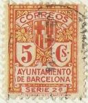 sellos de Europa - España -  AYUNTAMIENTO DE BARCELONA . SERIE 2ª