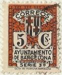 sellos de Europa - España -  AYUNTAMIENTO DE BARCELONA . SERIE 3ª