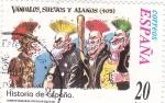 Stamps Spain -  Historia de España-  VANDALOS, SUEVOS Y ALANOS     (N)