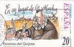 Sellos de Europa - España -  Escenas del Quijote-  EN UN LUGAR DE LA MANCHA                (N)