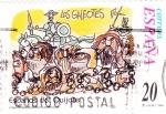 Sellos de Europa - España -  Escenas del Quijote-LOS GALEOTES                  (N)