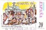 Stamps Spain -  Escenas del Quijote-LOS GALEOTES                  (N)