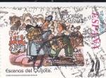 Stamps Spain -  Escenas del Quijote-EL DONOSO ESCRUTINIO                  (N)