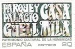 Sellos de Europa - España -  Patrimonio de la Humanidad-  PARQUE Y PALACIO CASA GÜELL MILA      (N)