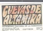 Sellos de Europa - España -  Patrimonio de la Humanidad- CUEVAS DE ALTAMIRA       (N)