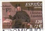 Sellos de Europa - España -  Literatura española- Baltasar Gracián       (N)