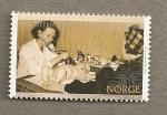 Sellos del Mundo : Europa : Noruega : Supervision medica recien nacidos