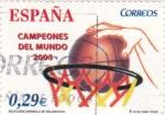 Sellos de Europa - España -  Selección Española de Baloncesto-CAMPEONES DEL MUNDO 2006