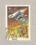 Sellos de Europa - Hungría -  Satélite espacial