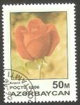 Sellos de Asia - Azerbaiyán -  282 - Flor burgund