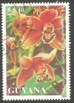 Stamps : America : Guyana :  Flor