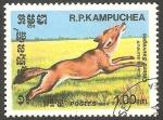 Stamps : Asia : Cambodia :  Kampuchea - Perro salvaje