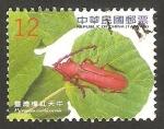 Sellos de Asia - Taiwán -  Coleoptero Pyrestes curticornis