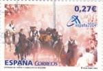 Stamps Spain -  Entrada de Toros  y caballos en Segorbe     (N)