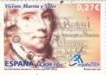 Stamps Spain -  250 Aniversario Nacimiento  Vicente Martí y Soler -Compositor   (N)