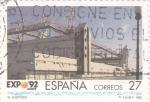 Sellos de Europa - España -  EXPO-92 - El Auditorio       (N)