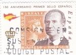 Sellos de Europa - España -  150 Aniversario primer sello español        (N)
