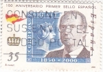Stamps Spain -  150 Aniversario primer sello español        (N)