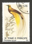 Stamps : Europe : São_Tomé_and_Príncipe :  Ave paradisea apoda
