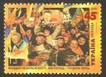 Stamps : Asia : Ukraine :  622 - Plaza de la Independencia, Manifestación de Noviembre-Diciembre de 2004