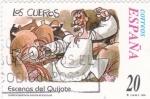 Stamps Spain -  Escenas del Quijote- LOS CUEROS                       (N)