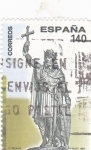 Stamps Spain -  Don Pelayo    (N)