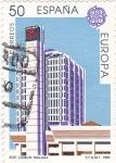 Sellos de Europa - España -  Edificio Comun- Malaga-                  (N)