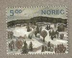 Stamps Europe - Norway -  Paisaje nevado