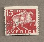 Sellos de Europa - Suecia -  300 Aniv. correo