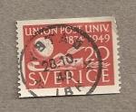 Stamps Sweden -  75 Aniv. UPU
