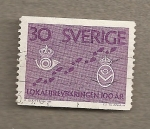 Stamps Sweden -  100 Aniv  Correos Local