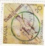 Stamps Spain -  Milenario de Cataluña     (N)