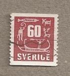 Stamps Sweden -  Simbolos escandinavos