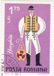 Stamps Romania -  Trajes regionales- HARGHITA