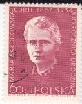 Stamps Poland -  María Sklodowska Curie 1867-1934  Física-Química