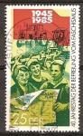 Sellos del Mundo : Europa : Alemania : 40a Aniversario de la liberación del fascismo (DDR).