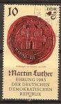 Sellos de Europa - Alemania -  500a Aniv nacimiento de Martín Lutero (reformador protestante)DDR.