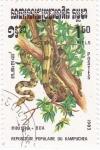 Sellos de Asia - Camboya -  Serpiente -BOA