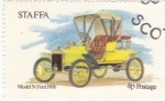 Stamps United Kingdom -  modelo Ford  1906  STAFFA-Escocia