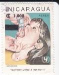 Stamps Nicaragua -  Vacunación