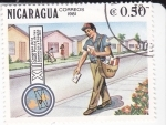 Stamps Nicaragua -  XII Congreso de la Unión postal de las Américas y España