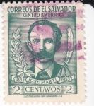 Stamps El Salvador -  José Martí 1853-1953
