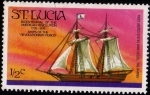 Sellos del Mundo : America : Santa_Lucia : Bicentennial of the American Revolution 1776-1976