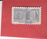 Stamps Colombia -  Palacio de Comunicaciones