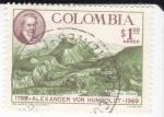 sello : America : Colombia : Alexander Von humboldt -Explorador