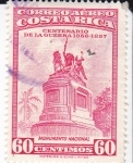 Sellos de America - Costa Rica -  Centenario de la Guerra-monumento nacional